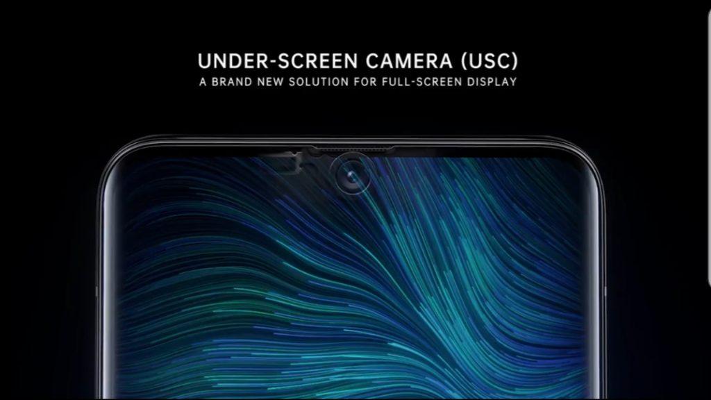 Galaxy S1 under display camera