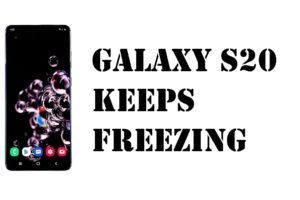 Galaxy S20 chrome freezing issue