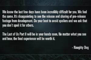 Last Of Us 2 Spoilers Leak