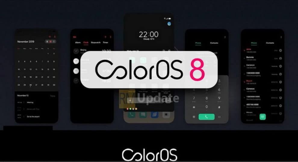 Oppo ColorOS 8 Update