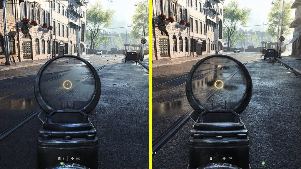 Ray tracing enabled on game