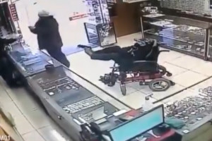 Brazil Robbery Man on Wheelchair