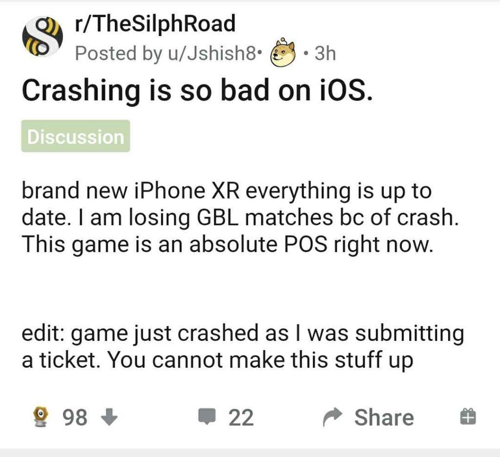 Pokemon Go crashing on iPhone: Fix coming soon