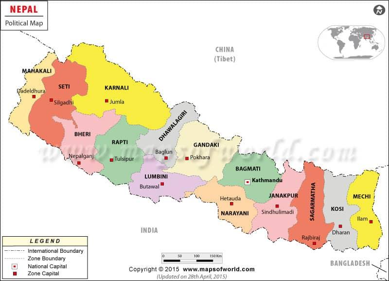 Nepal original map image