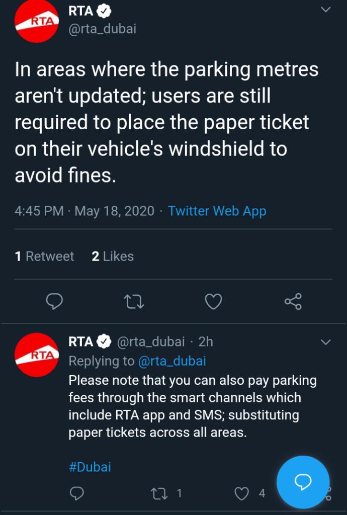 Dubai Paperless Parking Tickets