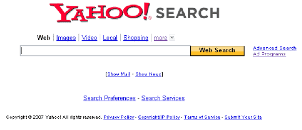 YAHOO Top 10 Google Search Engine Alternatives