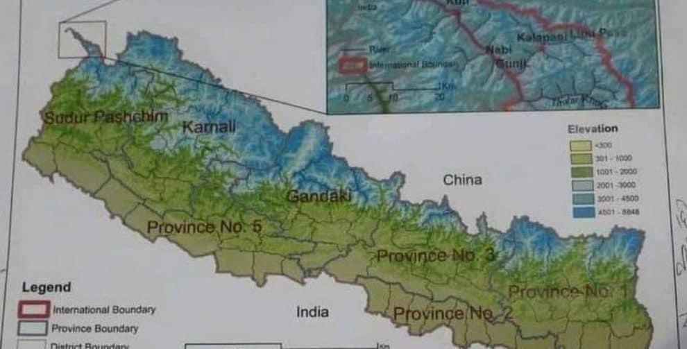 new nepal map india image
