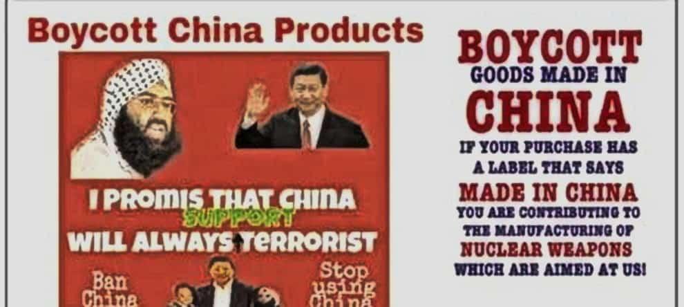 Boycott China India Chinese Products