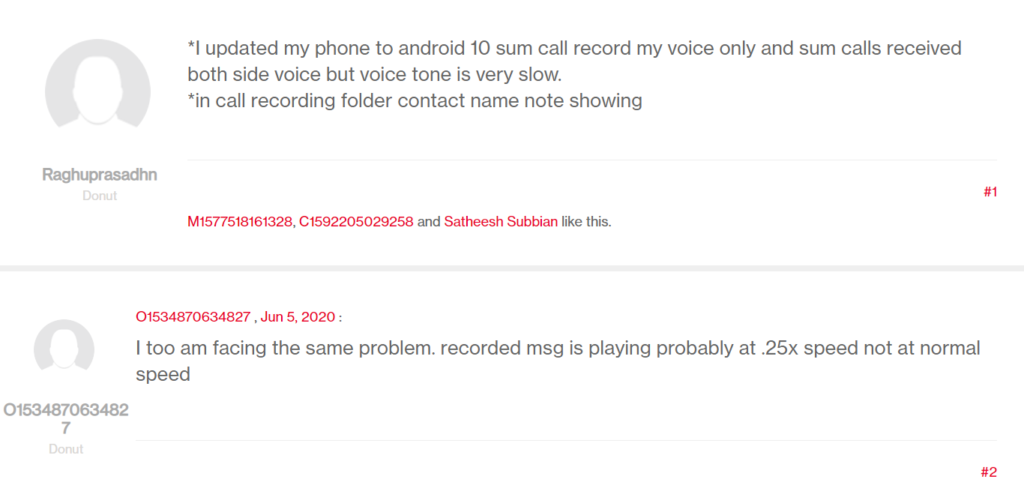 OnePlus 5 5t voice recording call issue