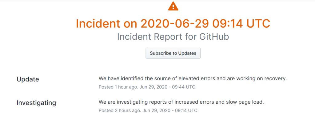 GitHub Down
