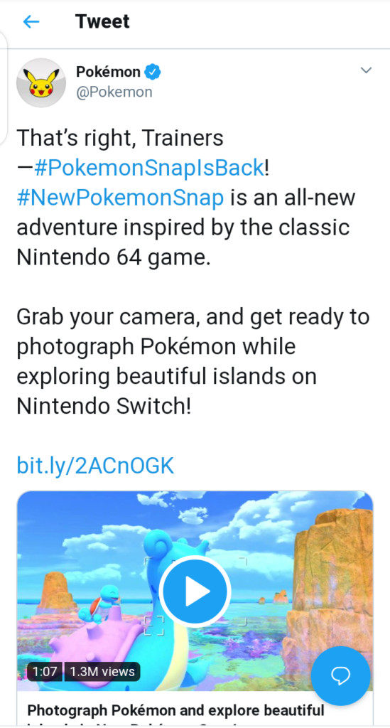 New Pokemon Snap 2 is coming to Nintendo Switch, no release date yet