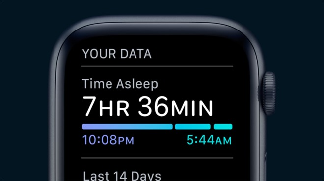 Sleep tracking app Apple Watch