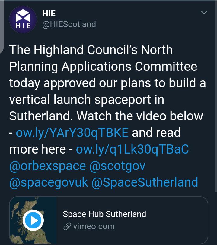 UK Spaceport In Sutherland