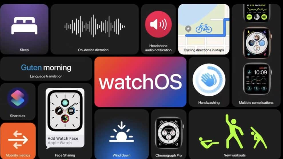 WatchOS 7 new features