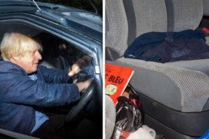 boris jonhson car accident video