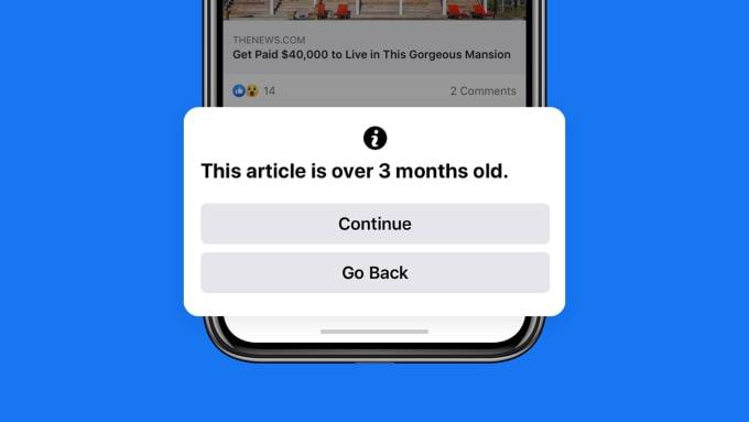 Facebook Pop-up Warning 3 Months Old Stories