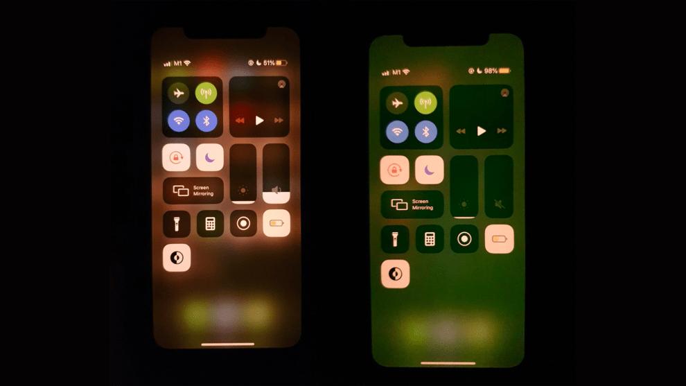 iPhone 11 green tint display bug