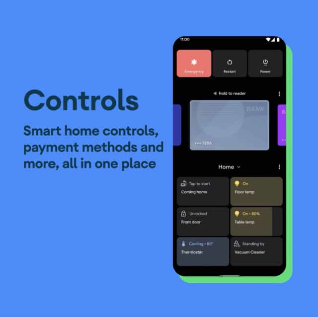 smart home controls android 11