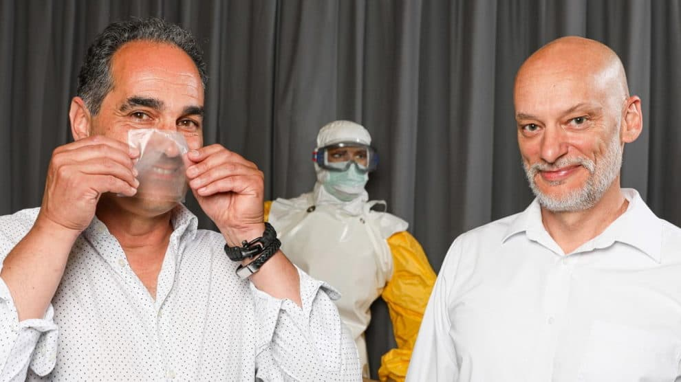 transparent face masks