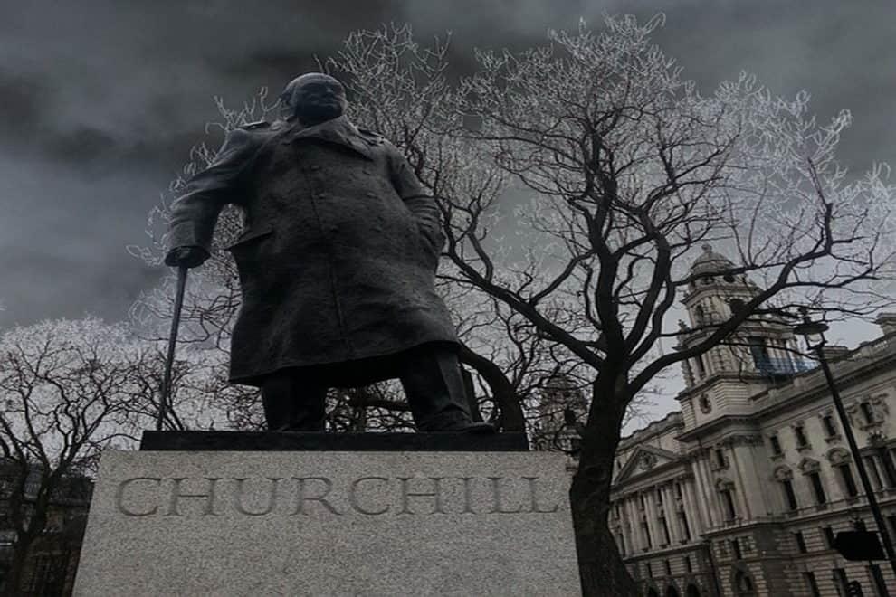 Winston Churchill UK Statue Boris Johnson