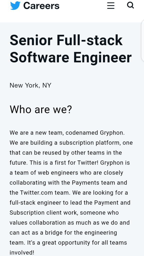 Gryphon New Subscription Platform for Twitter