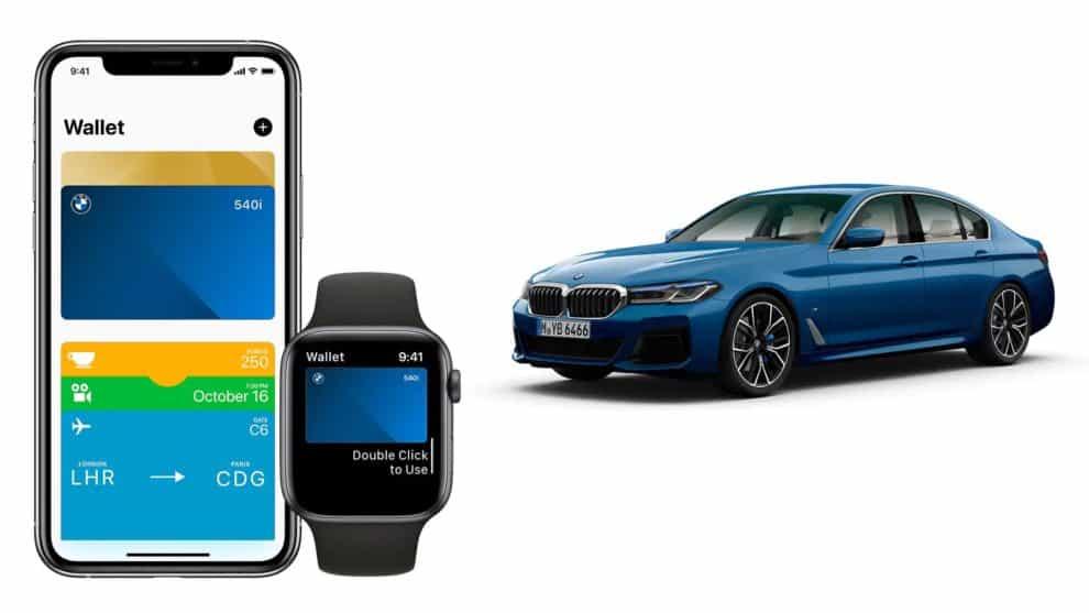 BMW connected app apple digital car key iPhone
