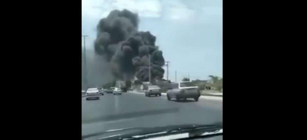 Bushehr Port Iran Fire