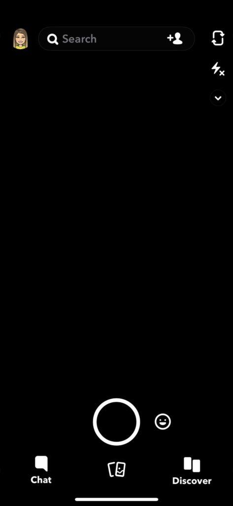 Snapchat black screen down