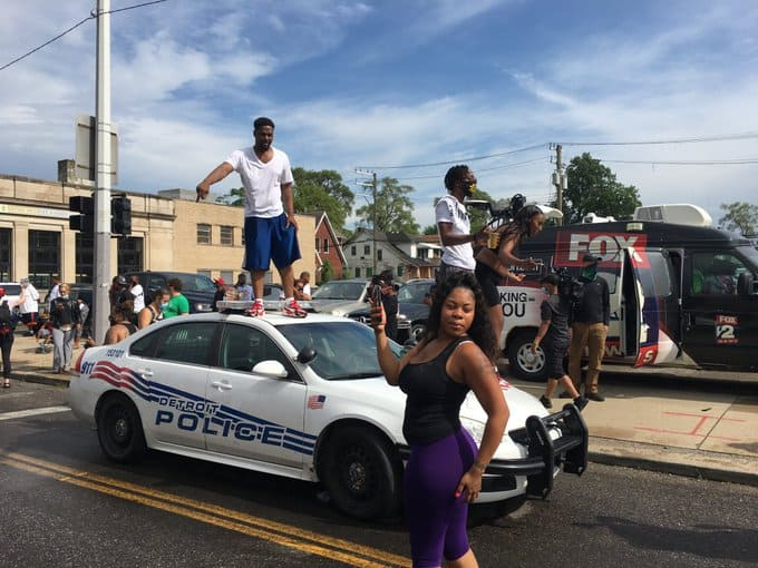 Detroit Shooting protests