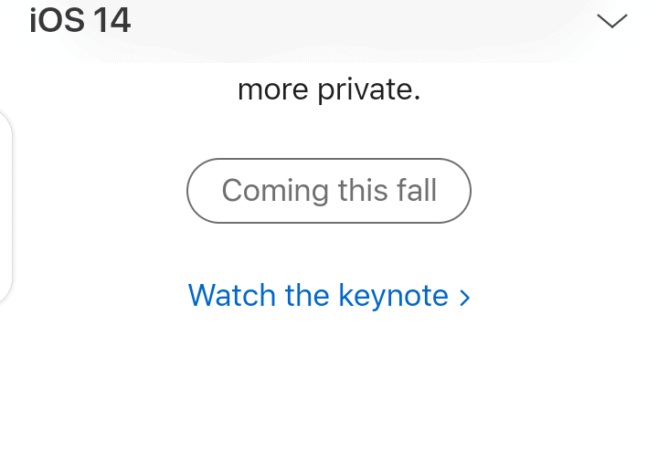 Relese date of iOS 14 Final is coming around fall