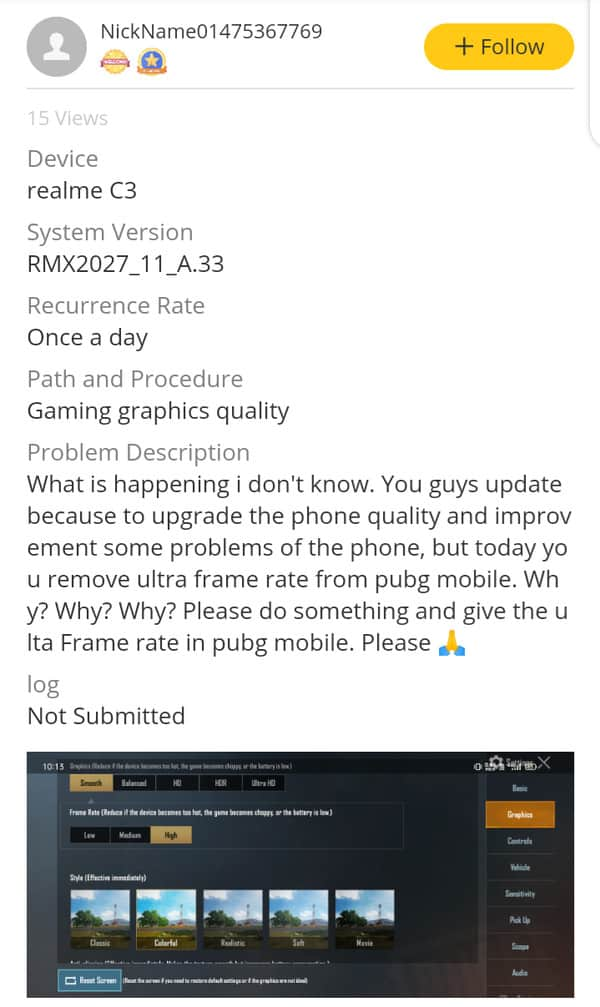 PUBG Mobile 0.19.0 Update frame rate 60 fps to 30 fps