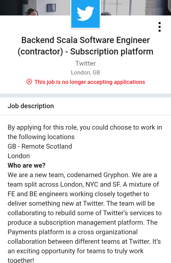 Twitter Gryphon Subscription Platform