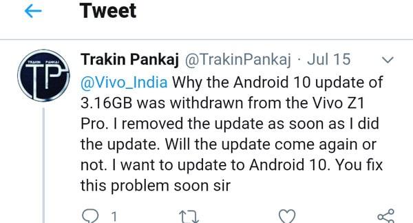 Vivo Z1 Pro Android 10