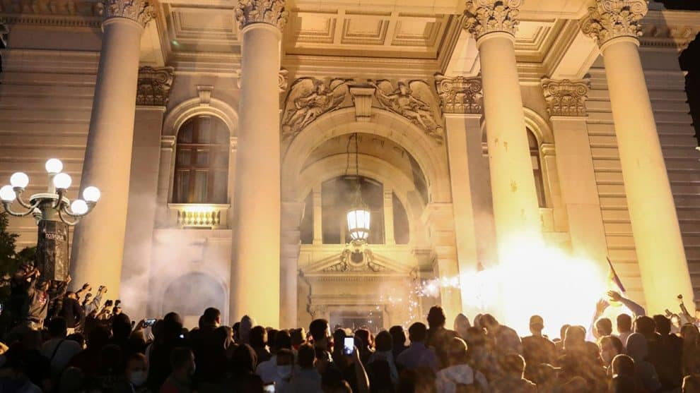 Belgrade Serbia Protests Videos