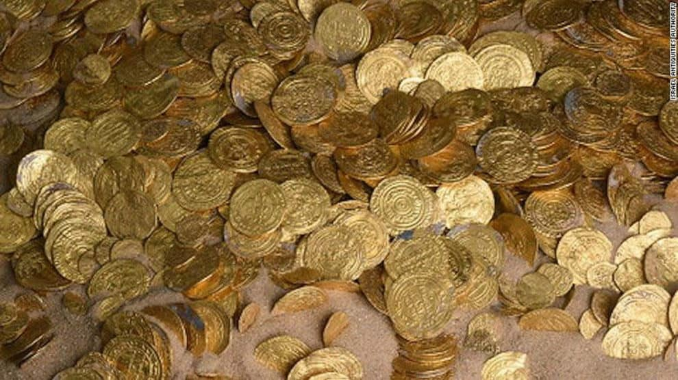 1000 year old gold coins found in israel