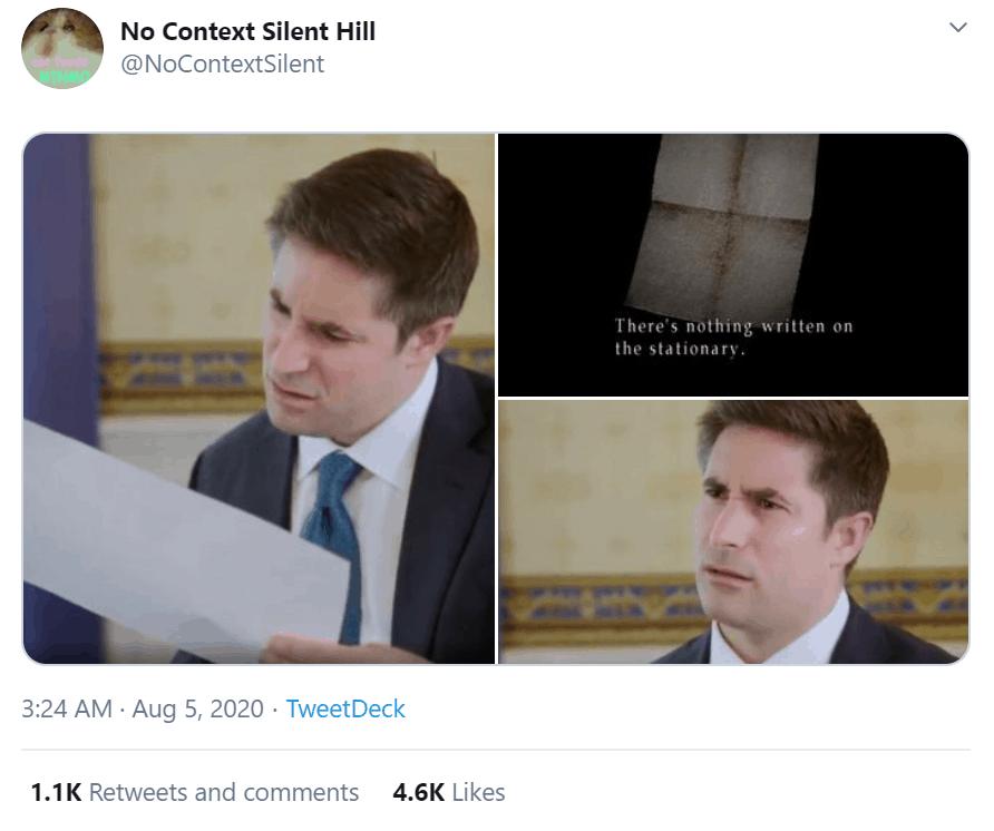 Jonathan Swan interviews Trump and a viral meme is born