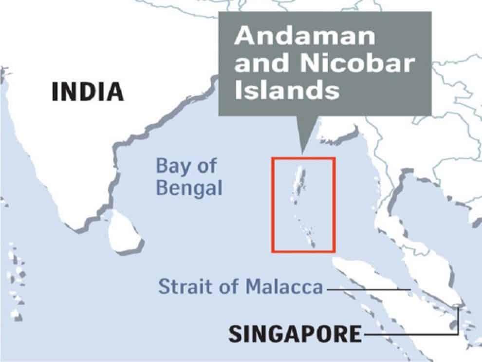 india island bases china
