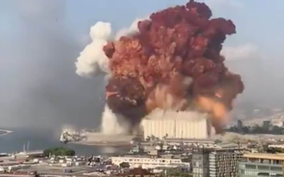 Beirut explosion caused by missiles or rockets