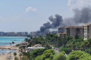 video fire trinimar hotel Benicàssim Spain
