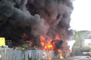 Birmingham fire video Tyseley Industrial Estate
