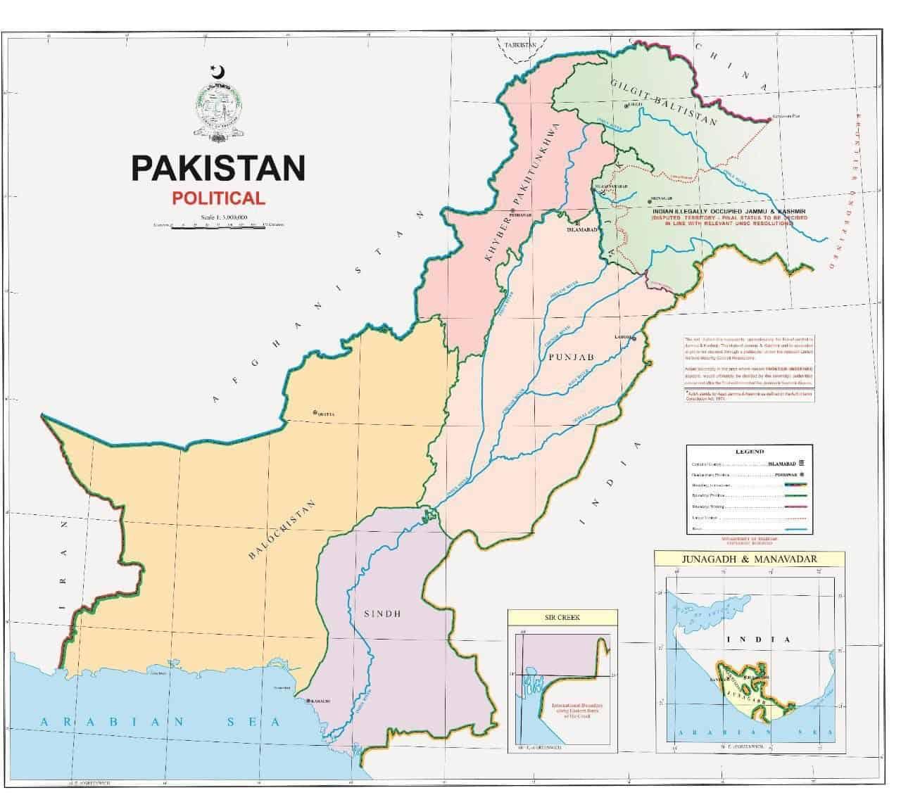 new pakistan map indian kashmir