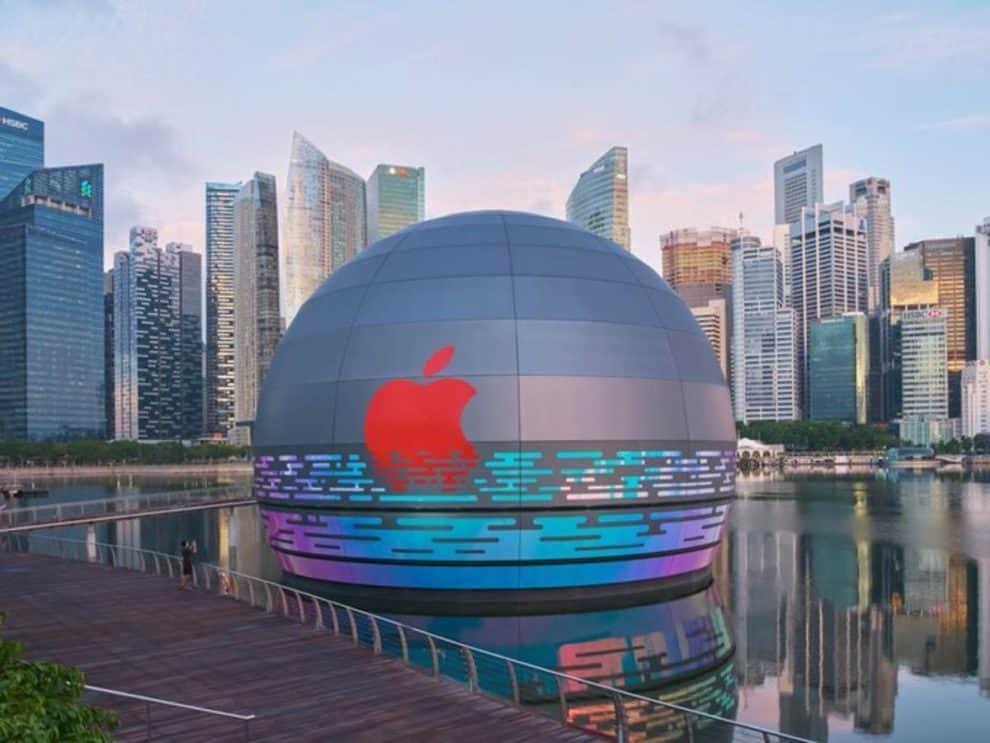 Floating Apple Store Singapore Marina Bay