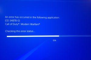 Warzone warfare COD error crashing