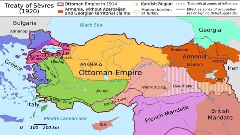turkey Treaty of Sevres