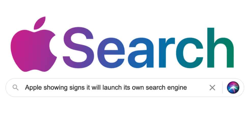 Apple search engine Google search