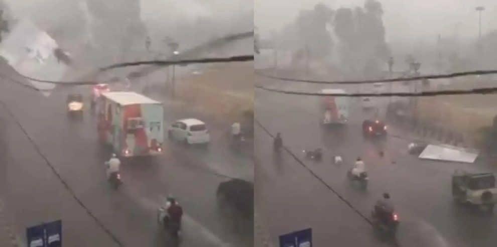 billboard karachi two bike riders Metropole Karachi video
