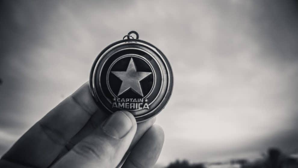 Captain America Shield Minneapolis protestor