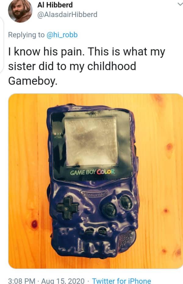 image of roasted Gameboy
