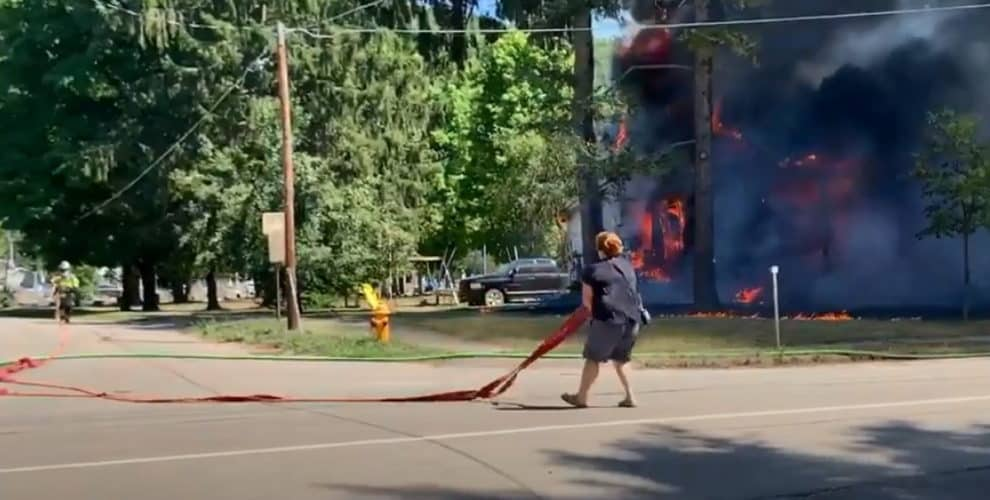 Savona fire video