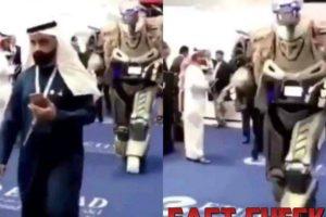 viral video king of bahrain dubai robot bodyguard